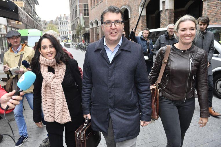 Ikrame Kastit, Wouter Van Besien en Freya Piryns.