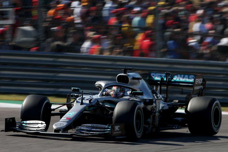 Lewis Hamilton werd twee weken geleden opnieuw wereldkampioen F1. Beeld AFP
