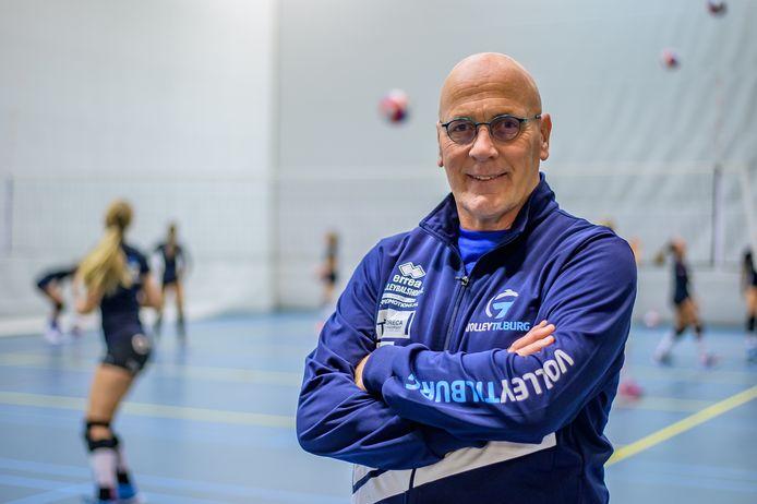 Marcel Leijten is de hoofdtrainer bij Volley in Tilburg.