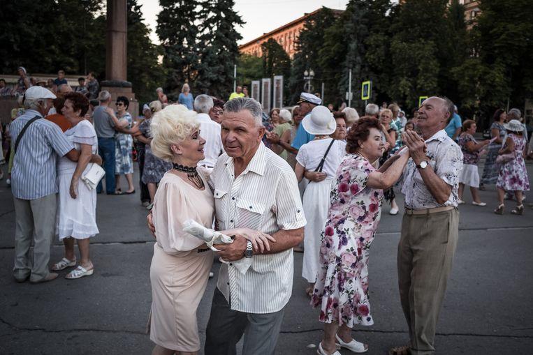 Poetins aanhang bestaat traditioneel uit gepensioneerden.  Beeld Sergey Ponomarev