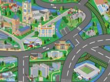 Laat je kinderen racen op een Gentse speelmat, met meer dan dertig Gentse gebouwen en plekken