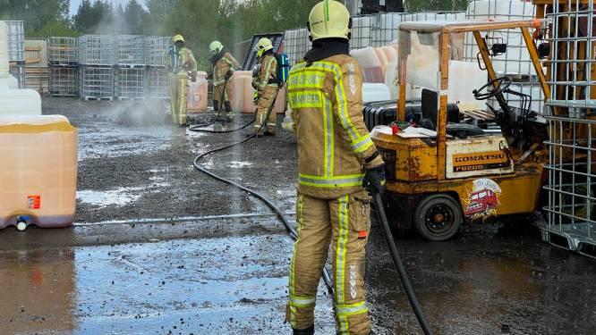 IBC-container vat vuur, brandje dankzij regen snel geblust