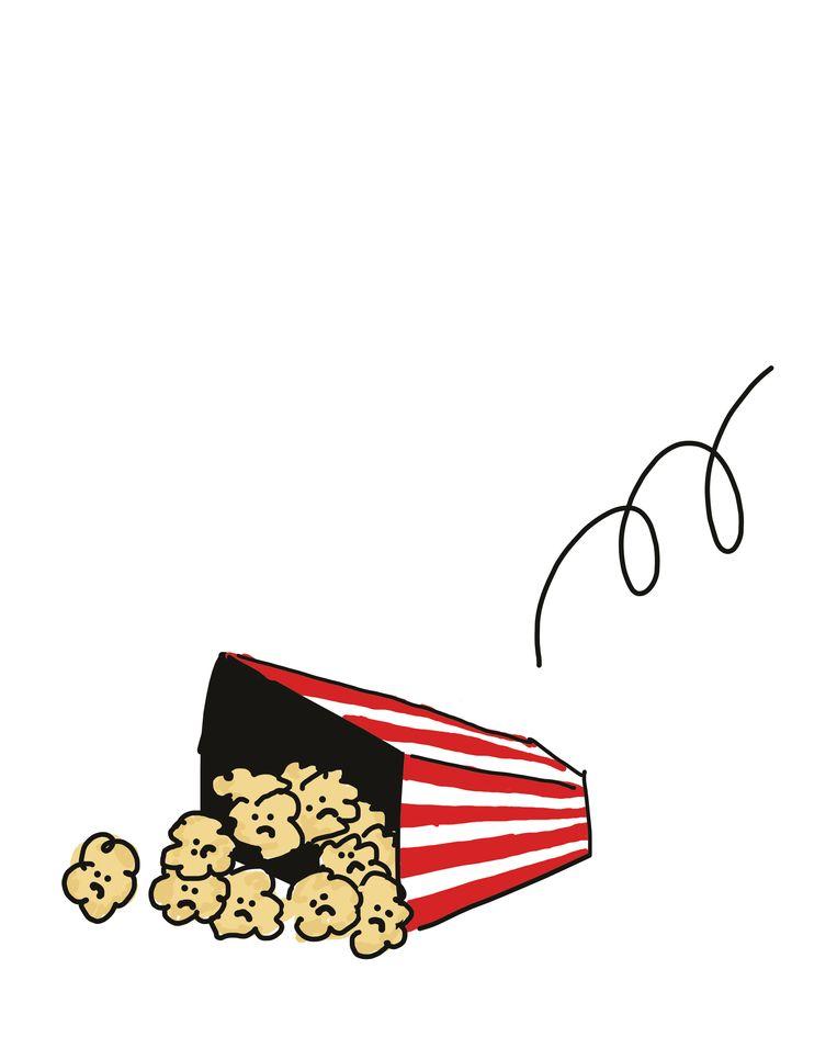 Wij zorgen voor de artikels, u zorgt zelf voor de popcorn. Beeld Tim Colmant