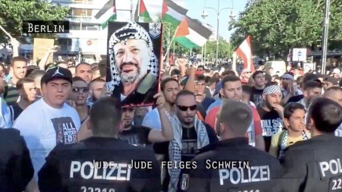 Bij pro-Palestijnse demonstraties werd 'dood aan de Joden' geroepen.