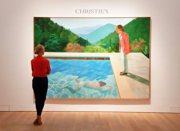 'Portrait of an Artist (Pool with Two Figures)', het werk van David Hockney dat donderdag voor een recordbedrag werd geveild.