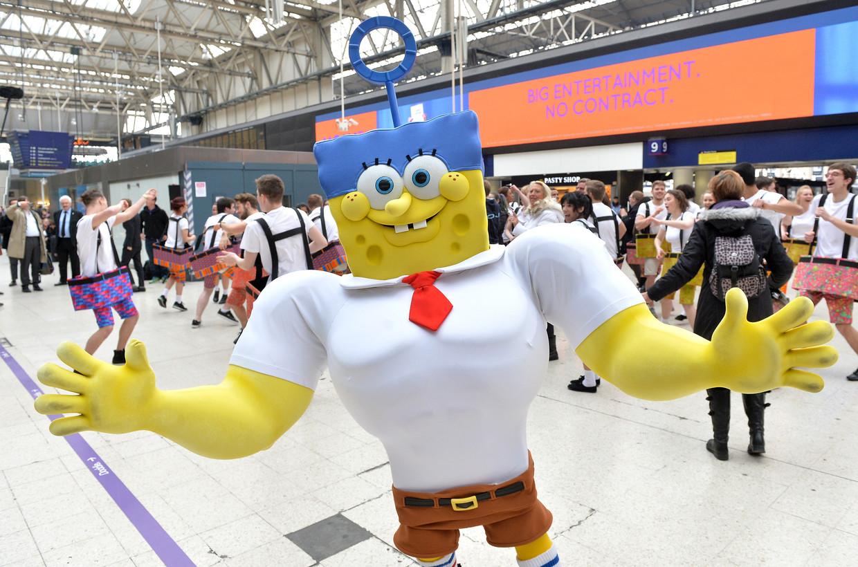 Netflix heeft de nieuwe Spongebob-film aangekocht, veel eigen productiewerk ligt stil vanwege lockdowns in veel landen. Beeld Getty