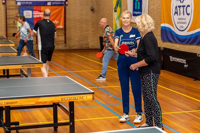 Bettine Vriesekoop was zaterdag te gast bij het Alphense ATTC.