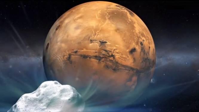 Ongewone gebeurtenis in de ruimte: komeet scheert langs Mars