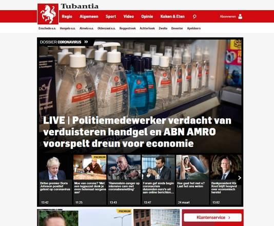 Screenshot website Tubantia