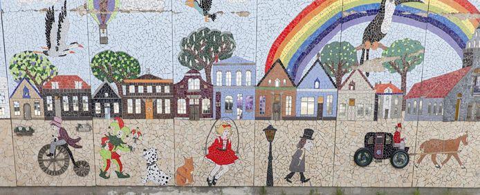 Het mozaïek aan de wanden van de Mans Kapbaargbrug in Almelo is genomineerd voor de Buitenkunstverkiezing van Radio 4.