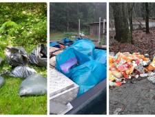 Met deze 'aso-borden' moet het dumpen van afval verminderen, anders blijft Kuinderbos 'afvalputje van de streek'