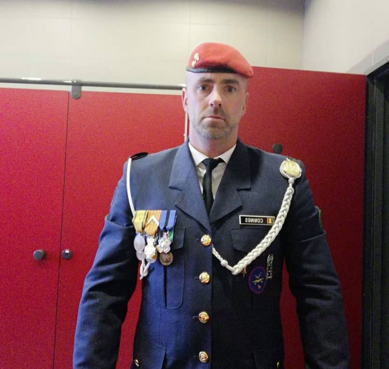 Jürgen Conings in legeruniform. Beeld RV