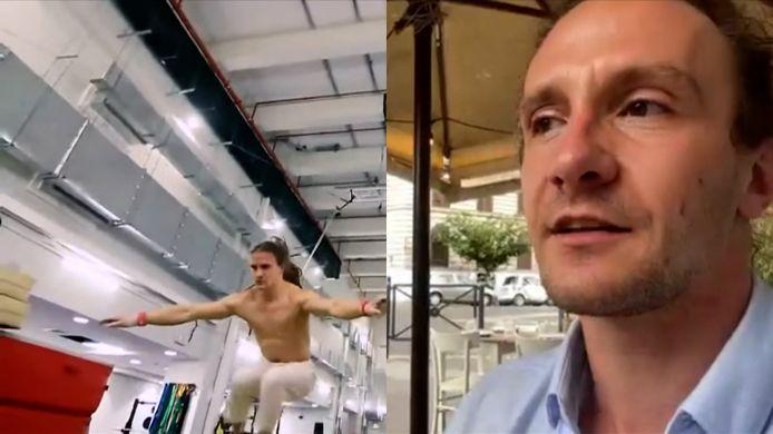 Nils Valkenborgh, Belgische acrobaat op openingsceremonie EK voetbal