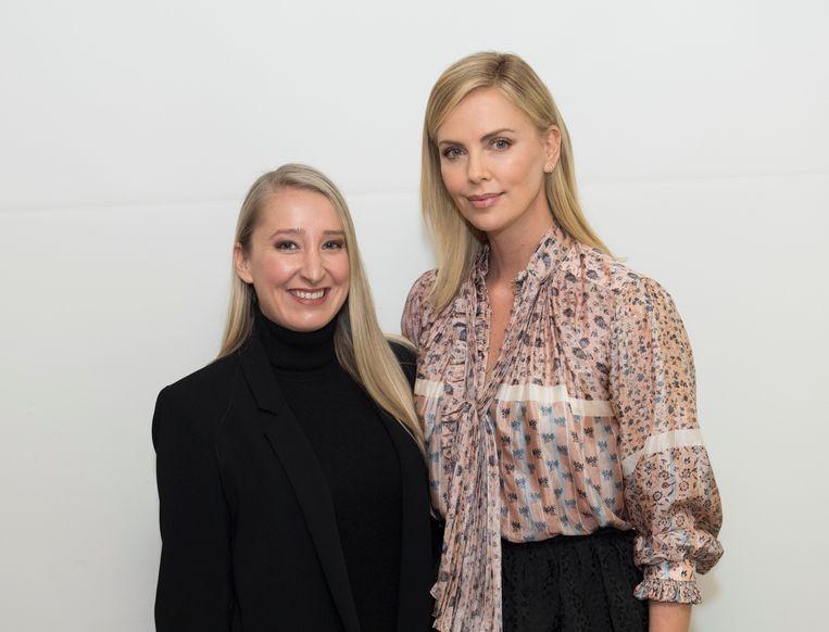 Onze reporter met Charlize Theron in LA.