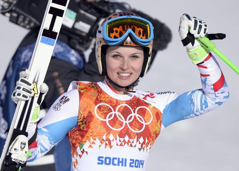Skiester Anna Fenninger. Beeld epa