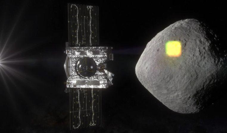 Een visuele voorstelling van hoe OSIRIS-REx asteroïde Bennu nadert. Beeld AP