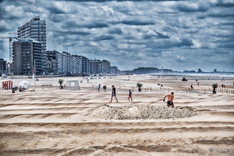 Het mooie aan Oostende: de stad ligt met haar voeten in de zee. Beeld Tim Dirven