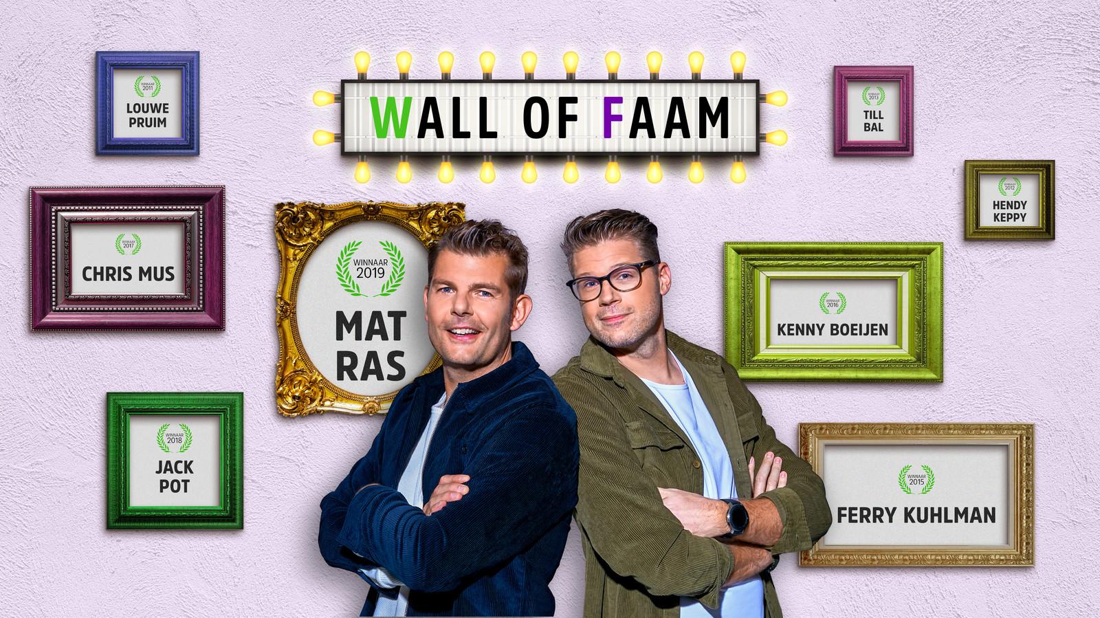 Welke naam komt vandaag ook op de Wall of Faam? De Faamnaam is een gouden onderdeel van de Coen en Sander Show op Radio 538.