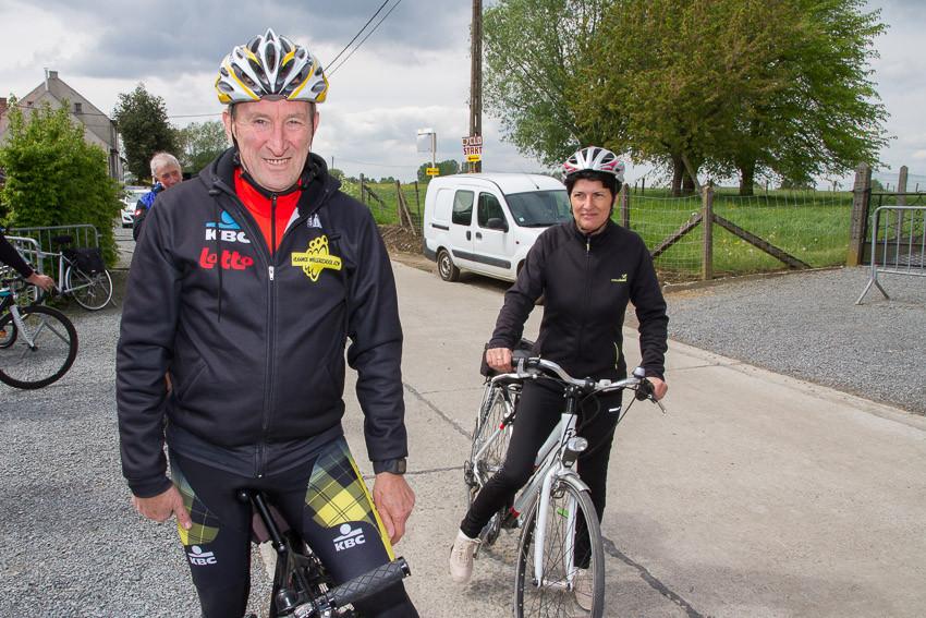 Ferdi Van Den Haute rijdt de familie tocht van 25 kilometer.