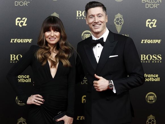 Robert Lewandowski en partner Anna.