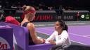 Kiki Bertens (l) samen met haar huidige coach Elise Tamaëla.