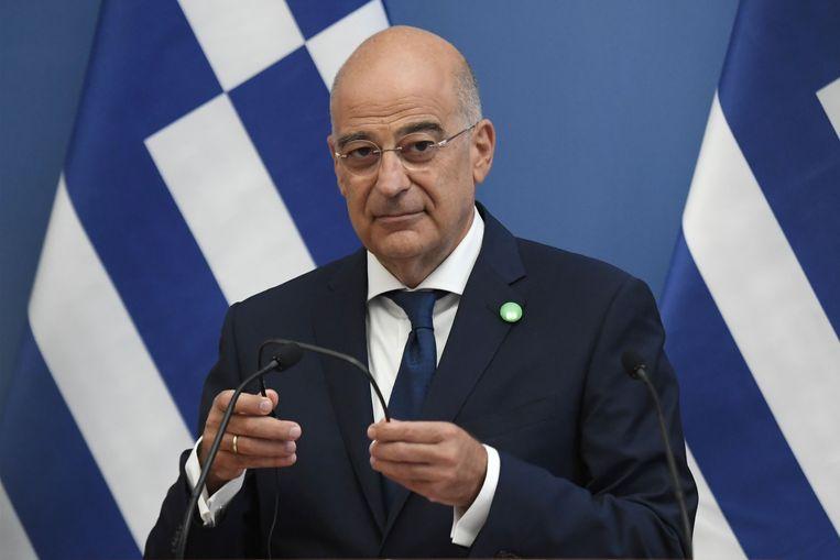 Grieks minister van Buitenlandse Zaken Nikos Dendias. Beeld AFP