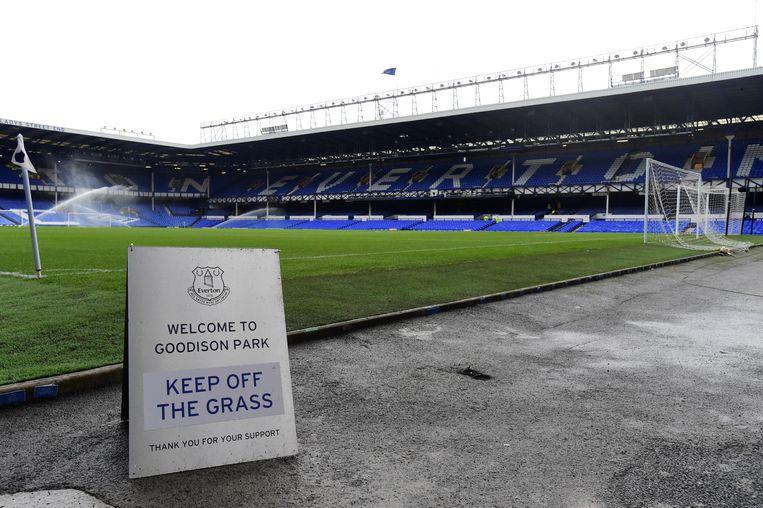 In het stadion van Everton. Beeld REUTERS