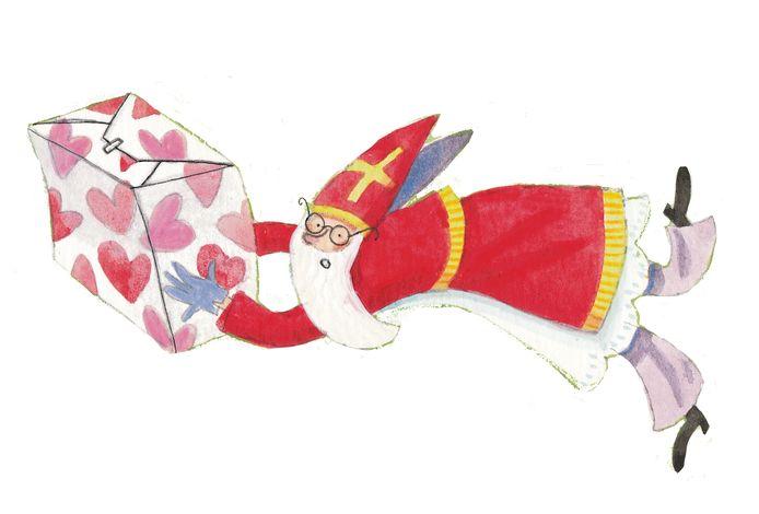 Een illustratie uit het boek 'Van kind naar Sint'