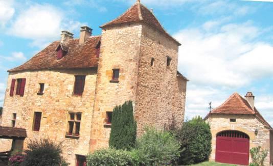 Het pittoreske dorp Loubressac langs de vallei van de Dordogne.
