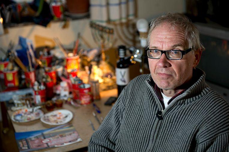 De controversiële Zweedse kunstenaar Lars Vilks op archiefbeeld uit 2012. Beeld EPA