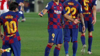 """FC Barcelona lijdt duur puntenverlies waardoor Real Madrid morgen 2 punten kan uitlopen, Suárez: """"Ik ben woedend en gefrustreerd"""""""