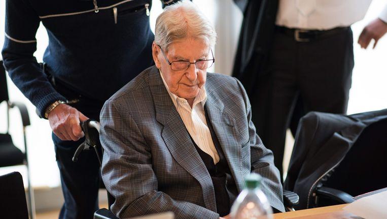 Voormalig Auschwitz-bewaker Reinhold Hanning. Beeld EPA