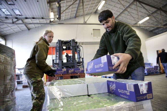 De levensmiddelen worden naar de voedselbanken gebracht.
