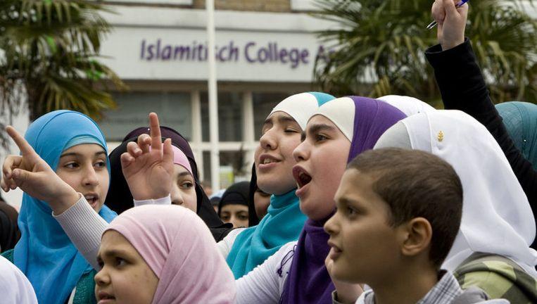 Het Islamitisch College Amsterdam mag niet fuseren met de Ibn Ghaldoun Rotterdam. Foto ANP Beeld