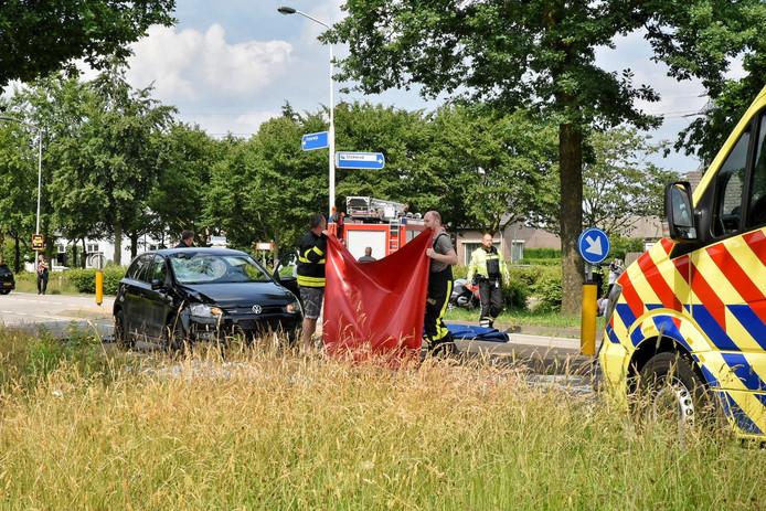 Bij een ongeval in Moergestel kwam een fietser om het leven.