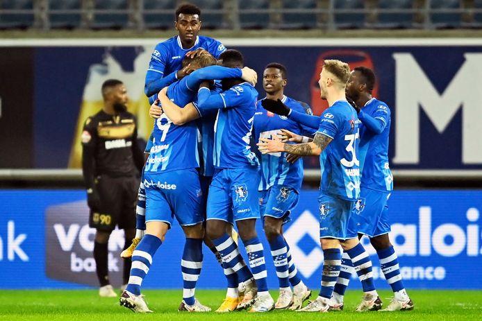 De spelers van AA Gent.