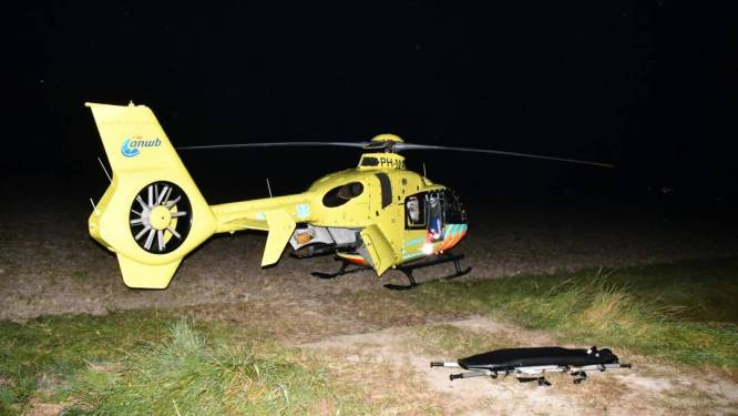 Traumahelikopter voor ernstig verkeersongeluk Noordwelle