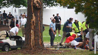 Bliksem slaat in op golftoernooi: zes gewonden