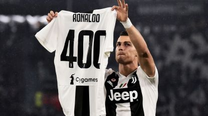 Ronaldo rondt kaap van 400 goals in topcompetities