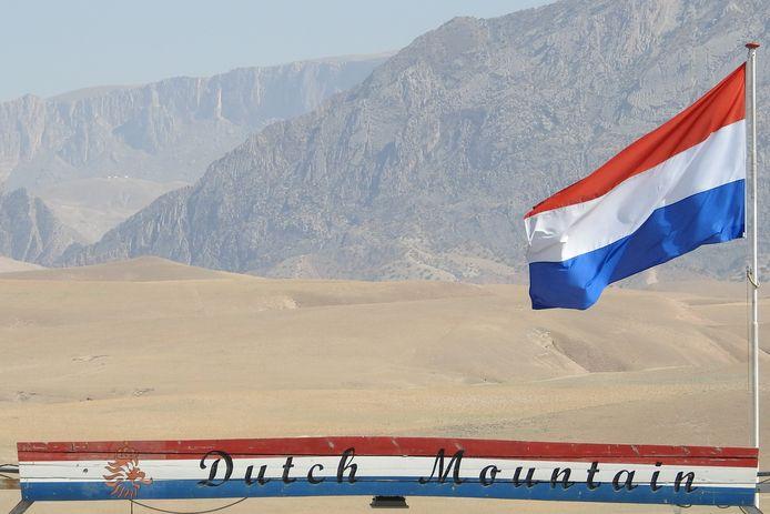 De vlag op Kamp Marmal zoals die sinds 2015 wapperde in het noorden van Afghanistan, krijgt een plek in het Nederlands Militair Historisch Museum in Soesterberg.