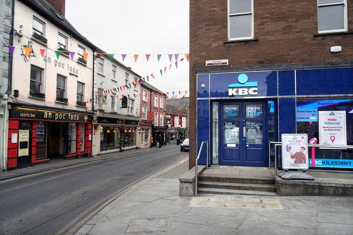 Een KBC-bankkantoor in Ierland.
