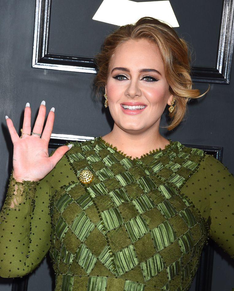 Adele op de Grammy's. Beeld Photo News