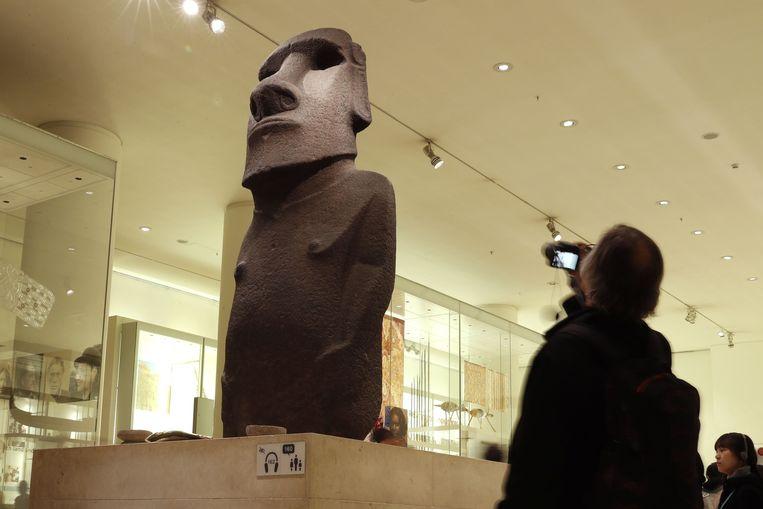 'Hoa Hakananai'a' in het British Museum. Beeld AFP