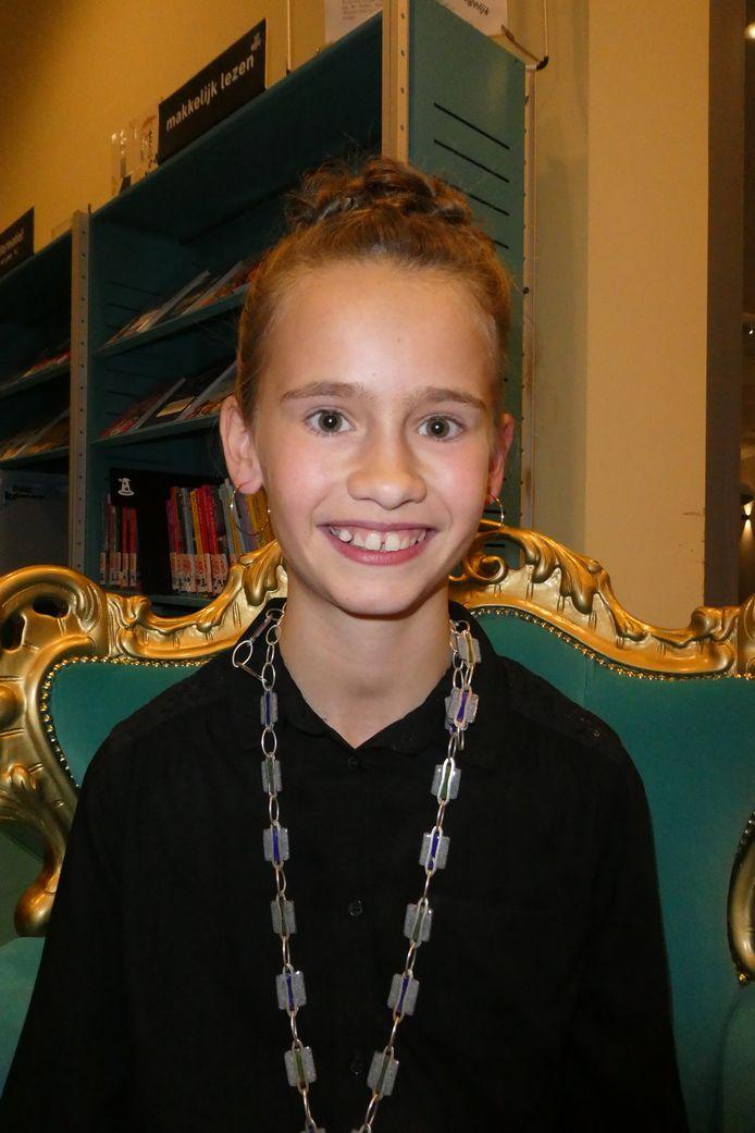 De nieuwe kinderburgemeester Madelief Houtman.