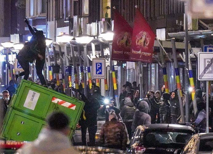 Rellen op de Beijerlandselaan in Rotterdam op 25 januari.