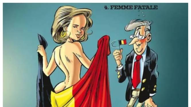 Censuur-expositie in Brussel toont te wulpse koningin Mathilde