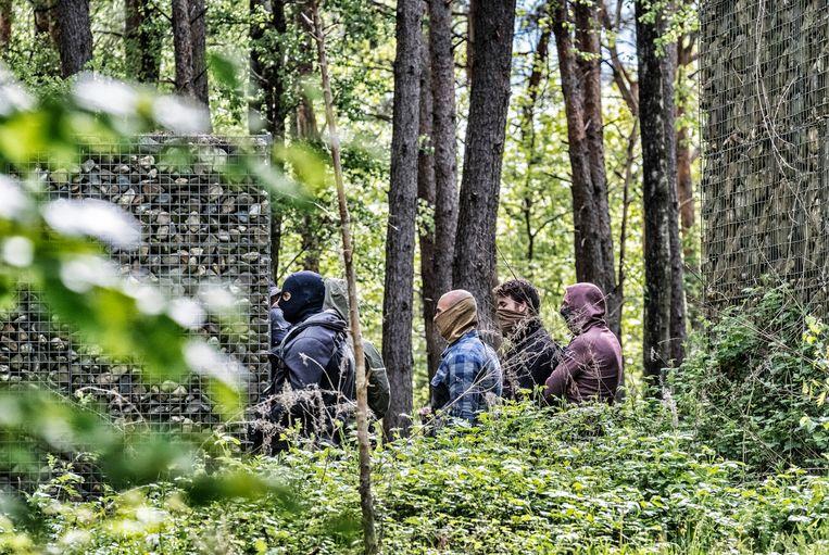 Speciale eenheden in het nationaal park Hoge Kempen in Dilsen-Stokkem.  Beeld Tim Dirven