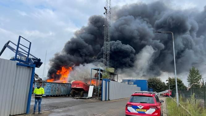 Foto's en video | Metershoge vlammen en rookwolk van brand bij AVI Den Bosch in wijde omgeving te zien