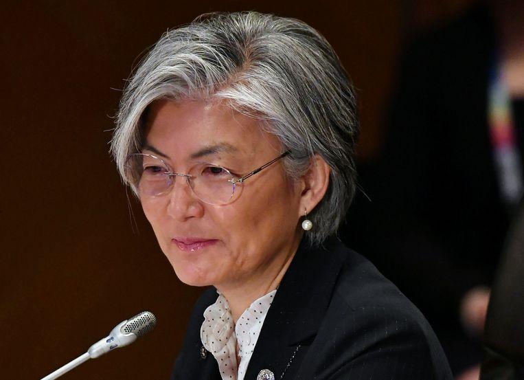 De Zuid-Koreaanse minister van Buitenlandse Zaken Kang Kyung-wha. Beeld reuters