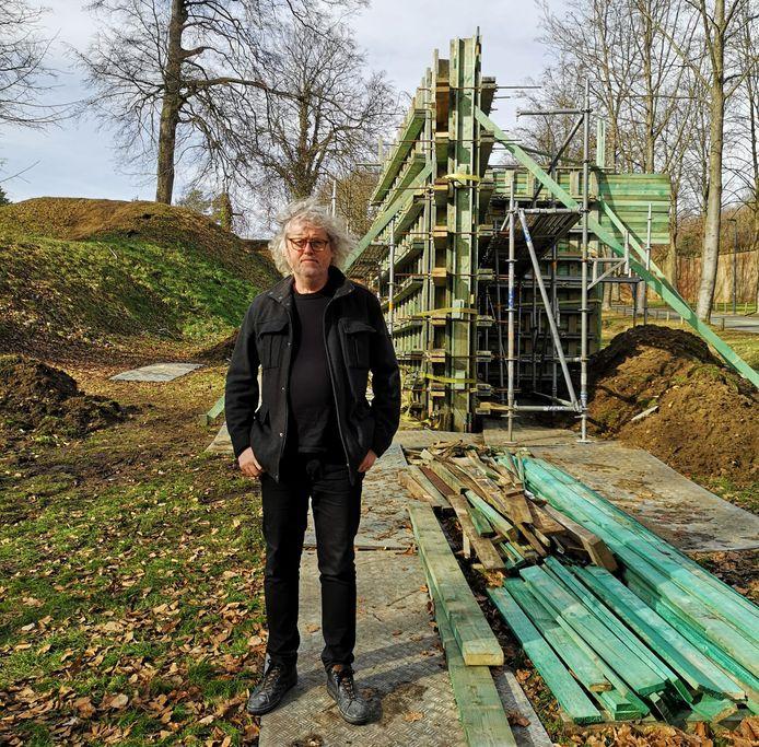 Henk Delabie bouwde een Blind Spot aan de Citadel in Diest.